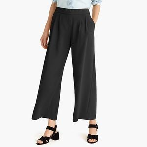 J crew 365 crepe wide leg crop pants